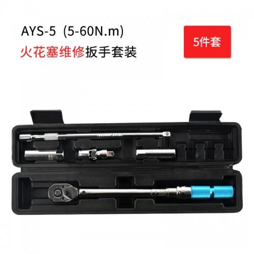 AYS-5火花塞扭矩扳手,高精度双向调节轻松省力,多种用途,适用广泛,棘轮头设置,多种套装,满足不同需求。