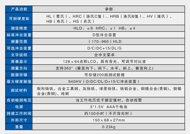 HD411里氏硬度计