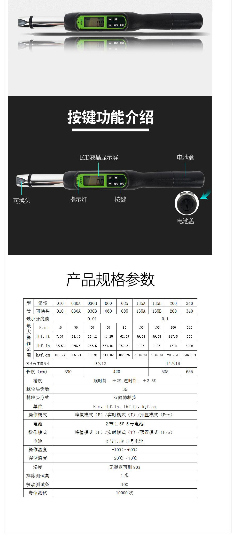 AWJC-B可换头大屏数显扭力扳手